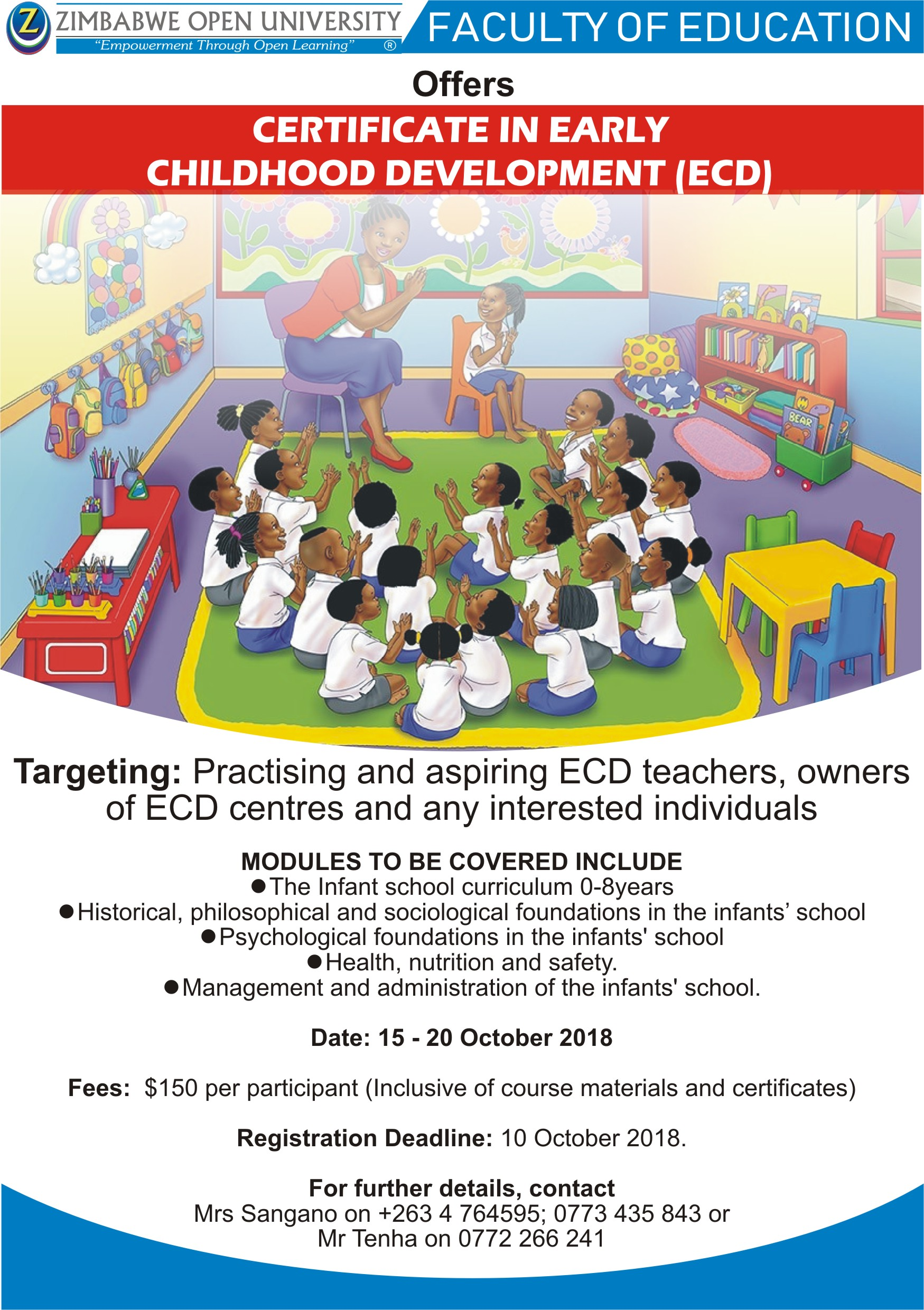 Certificate In Early Childhood Development Ecd Zimbabwe Open