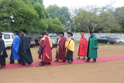ZOU Staff in a procession to the Ceremony Arena.